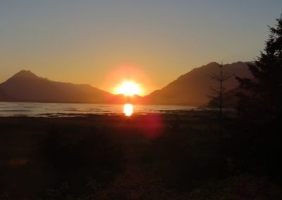 Sunset on the Chilkat side after a great day in Haines.