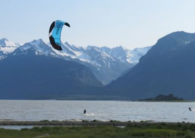 Kite surfing in Chilkat Inlet.