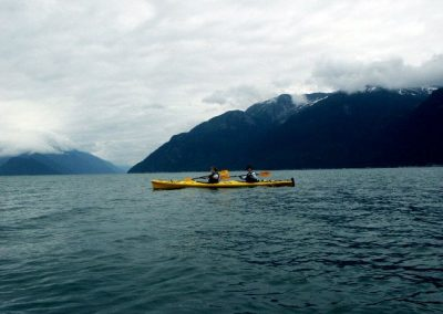 Kayaking on Lynn Canal or on Chilkoot Lake.